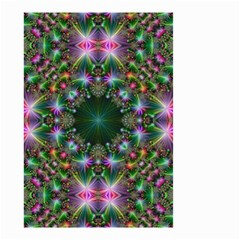 Digital Kaleidoscope Small Garden Flag (two Sides) by Simbadda