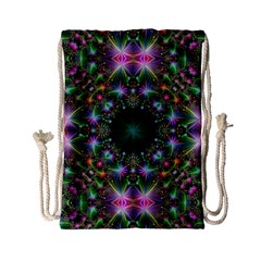 Digital Kaleidoscope Drawstring Bag (small) by Simbadda