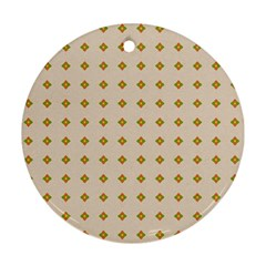 Pattern Background Retro Ornament (round) by Simbadda