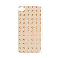 Pattern Background Retro Apple Iphone 4 Case (white) by Simbadda