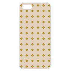 Pattern Background Retro Apple Iphone 5 Seamless Case (white) by Simbadda