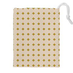 Pattern Background Retro Drawstring Pouches (xxl) by Simbadda