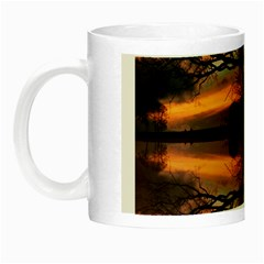 Aurora Sunset Sun Landscape Night Luminous Mugs by Simbadda