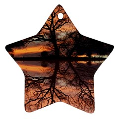 Aurora Sunset Sun Landscape Star Ornament (two Sides) by Simbadda