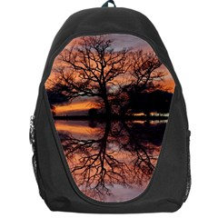 Aurora Sunset Sun Landscape Backpack Bag by Simbadda