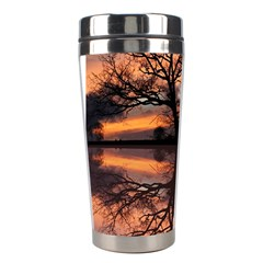Aurora Sunset Sun Landscape Stainless Steel Travel Tumblers by Simbadda
