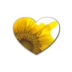 Plant Nature Leaf Flower Season Heart Coaster (4 Pack)  by Simbadda