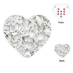 Pattern Motif Decor Playing Cards (heart)  by Simbadda