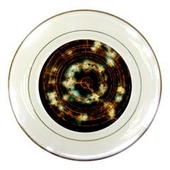 Science Fiction Energy Background Porcelain Plates by Simbadda