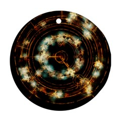Science Fiction Energy Background Round Ornament (two Sides) by Simbadda