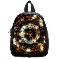 Science Fiction Energy Background School Bags (small)  by Simbadda