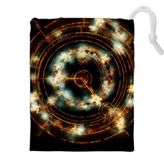 Science Fiction Energy Background Drawstring Pouches (xxl) by Simbadda