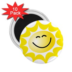 The Sun A Smile The Rays Yellow 2 25  Magnets (10 Pack)  by Simbadda