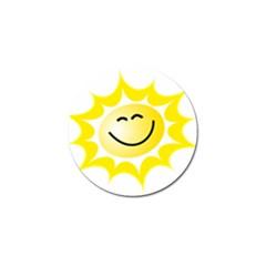 The Sun A Smile The Rays Yellow Golf Ball Marker by Simbadda