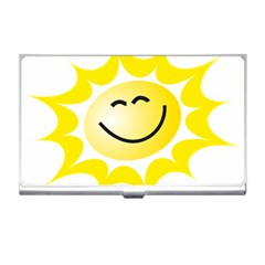 The Sun A Smile The Rays Yellow Business Card Holders by Simbadda
