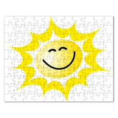 The Sun A Smile The Rays Yellow Rectangular Jigsaw Puzzl