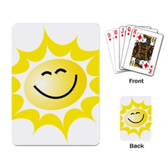 The Sun A Smile The Rays Yellow Playing Card by Simbadda