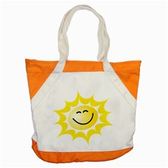 The Sun A Smile The Rays Yellow Accent Tote Bag by Simbadda