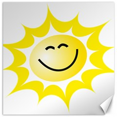 The Sun A Smile The Rays Yellow Canvas 12  X 12   by Simbadda