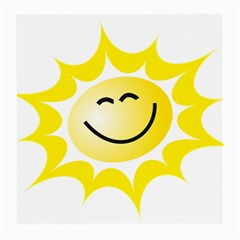 The Sun A Smile The Rays Yellow Medium Glasses Cloth (2 Side) by Simbadda