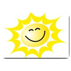 The Sun A Smile The Rays Yellow Large Doormat  by Simbadda