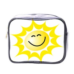 The Sun A Smile The Rays Yellow Mini Toiletries Bags by Simbadda