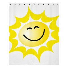 The Sun A Smile The Rays Yellow Shower Curtain 60  X 72  (medium)  by Simbadda