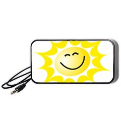 The Sun A Smile The Rays Yellow Portable Speaker (black) by Simbadda