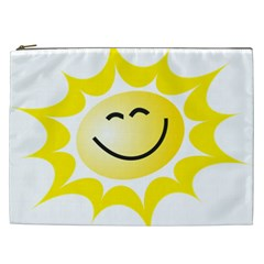 The Sun A Smile The Rays Yellow Cosmetic Bag (xxl)  by Simbadda