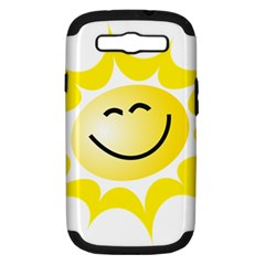 The Sun A Smile The Rays Yellow Samsung Galaxy S Iii Hardshell Case (pc+silicone) by Simbadda