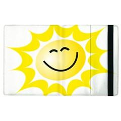The Sun A Smile The Rays Yellow Apple Ipad 3/4 Flip Case by Simbadda