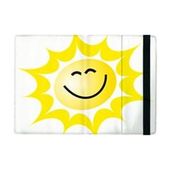 The Sun A Smile The Rays Yellow Apple Ipad Mini Flip Case by Simbadda
