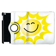 The Sun A Smile The Rays Yellow Apple Ipad 2 Flip 360 Case by Simbadda