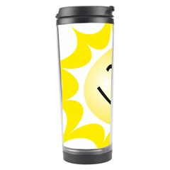 The Sun A Smile The Rays Yellow Travel Tumbler by Simbadda