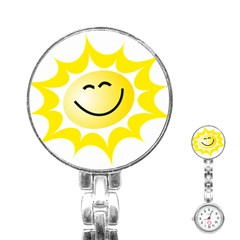 The Sun A Smile The Rays Yellow Stainless Steel Nurses Watch