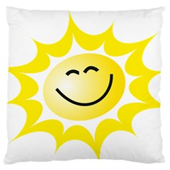 The Sun A Smile The Rays Yellow Standard Flano Cushion Case (one Side) by Simbadda
