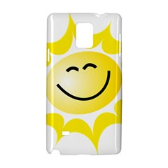 The Sun A Smile The Rays Yellow Samsung Galaxy Note 4 Hardshell Case by Simbadda