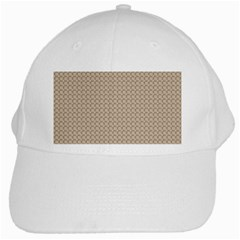 Pattern Ornament Brown Background White Cap by Simbadda
