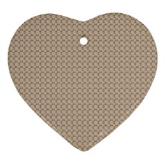Pattern Ornament Brown Background Ornament (heart) by Simbadda