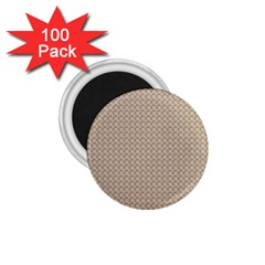 Pattern Ornament Brown Background 1 75  Magnets (100 Pack)  by Simbadda