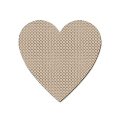 Pattern Ornament Brown Background Heart Magnet by Simbadda