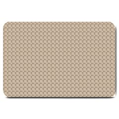 Pattern Ornament Brown Background Large Doormat  by Simbadda