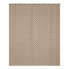 Pattern Ornament Brown Background Shower Curtain 60  X 72  (medium)  by Simbadda