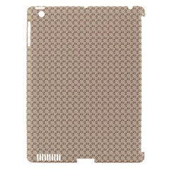 Pattern Ornament Brown Background Apple Ipad 3/4 Hardshell Case (compatible With Smart Cover) by Simbadda