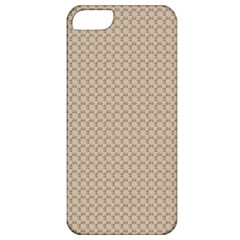 Pattern Ornament Brown Background Apple Iphone 5 Classic Hardshell Case by Simbadda