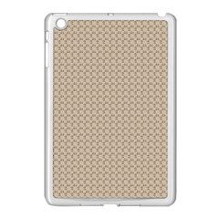 Pattern Ornament Brown Background Apple Ipad Mini Case (white)