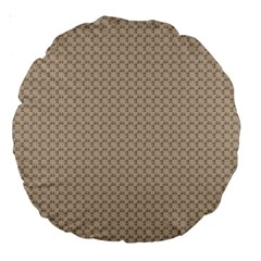 Pattern Ornament Brown Background Large 18  Premium Round Cushions by Simbadda