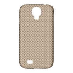 Pattern Ornament Brown Background Samsung Galaxy S4 Classic Hardshell Case (pc+silicone) by Simbadda