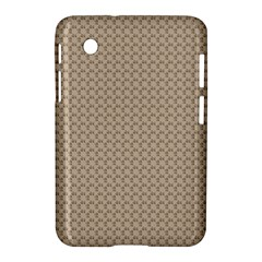 Pattern Ornament Brown Background Samsung Galaxy Tab 2 (7 ) P3100 Hardshell Case  by Simbadda