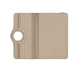 Pattern Ornament Brown Background Kindle Fire Hdx 8 9  Flip 360 Case by Simbadda